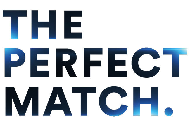 "Schriftzug ""The Perfect Match"""